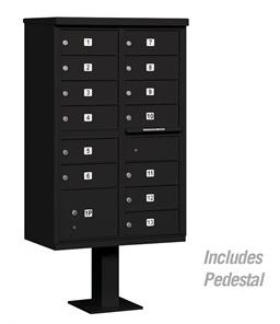 13 Door Cluster Mail Box Unit with Parcel Locker