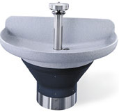 "Terreon�  8 1/2""D Bowl 54"" Semi-Circular Wash Fountains"