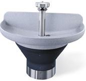 "Terreonツョ  8 1/2""D Bowl 54"" Semi-Circular Wash Fountains"
