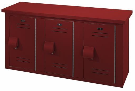 Locker And Bench Combination Solid Plastic Bench Locker