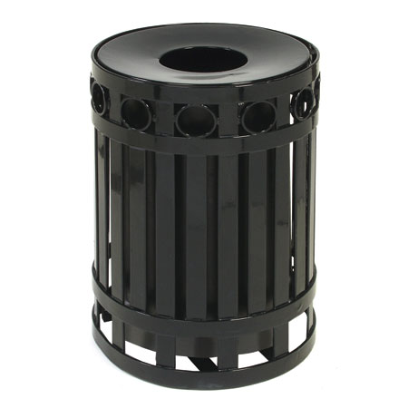 commercial outdoor trash cans. Waste Receptacles \u2013 Outdoor Designs. Metal-Ring-Receptacle Commercial Trash Cans C