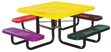 Childrens Square Expanded Metal Table