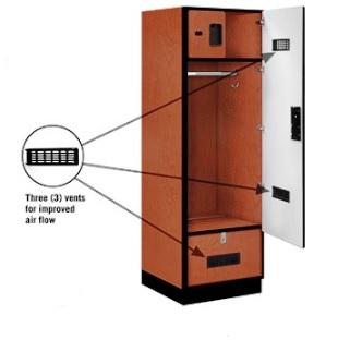 Designer Gear Wood Locker