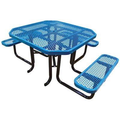 Octagon Angle Iron Picnic Table