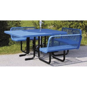 Square Picnic Table with Bench Back Seating