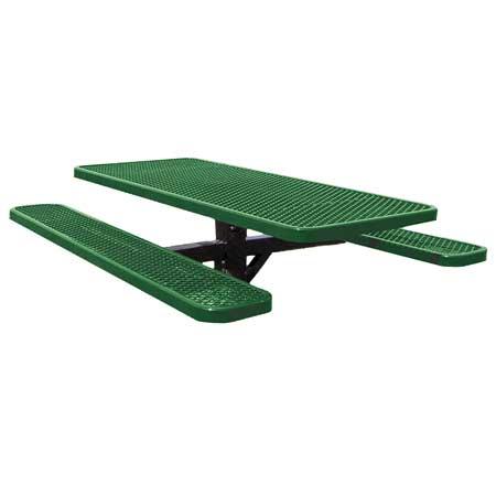 Post Mount Angle Iron Rectangle Picnic Table