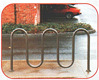 Powder Coated Wave Bike Rack - 1-5/8""
