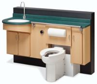 Patient Care Lavatory Water Closet Unit