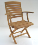 Napoli Teak Wood Folding Armchair