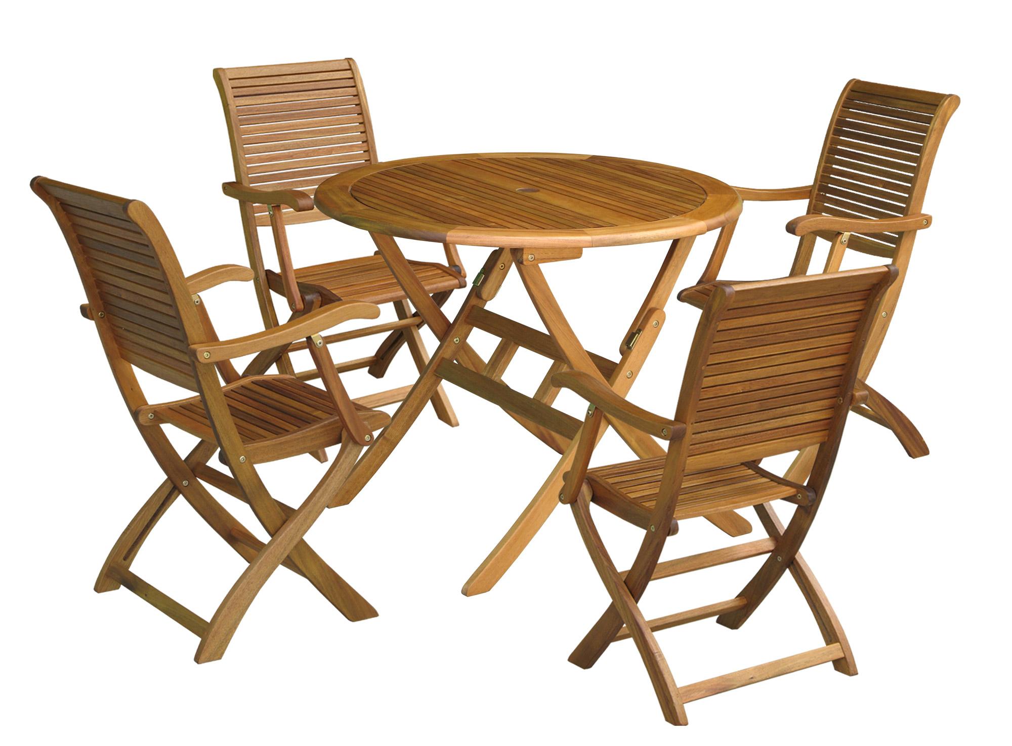 Teak Wood Folding Armchair