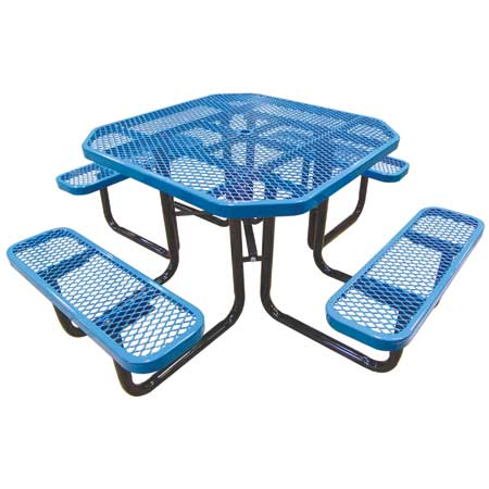 Octogonal-Picnic-Table-Blue