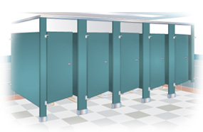 Urinal Screens, Baked Enamel Toilet Screens, Urinal Partitions Factory Direct