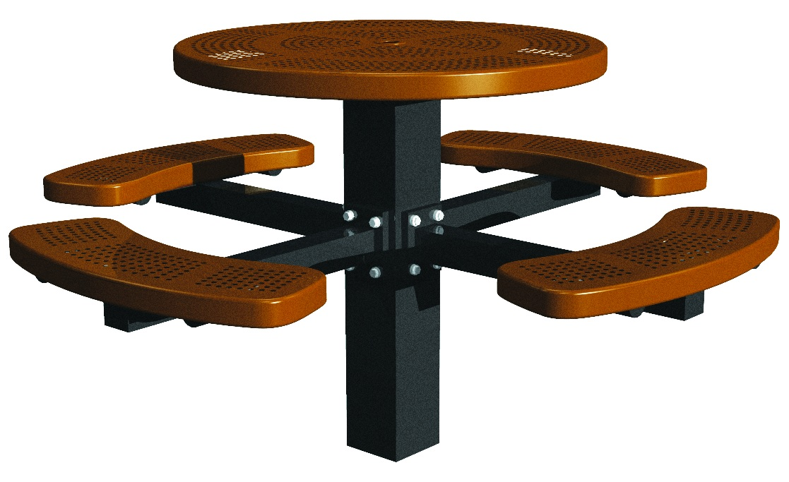 Post-Mount-Round-Perforated-Picnic-Table