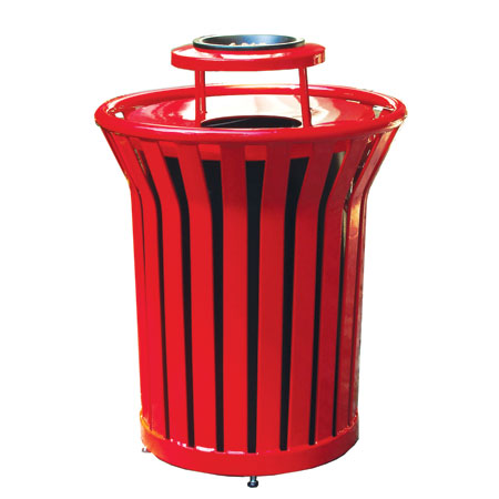 Heavy duty mercial metal outdoor decorative trash and