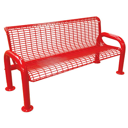 Perforated Metal Bench