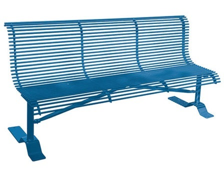 Rod Bench with Back