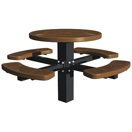Commercial Round Metal Picnic Tables