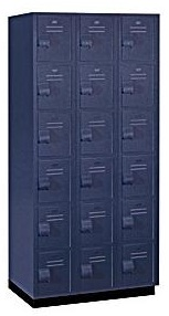 Solid Plastic Lockers - Six Tier - Heavy Duty - Quick Ship