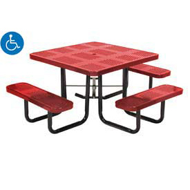 Square Perforated Picnic Table