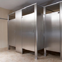 Washroom Partitions Requirements For Public Restrooms - Metal bathroom stalls