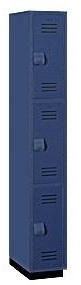 Solid Plastic Lockers - Triple Tier - Heavy Duty - Quick Ship