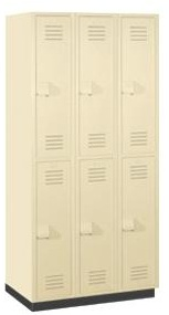 Solid Plastic Lockers - Two Tier - Heavy Duty - Quick Ship