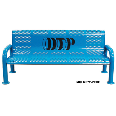Multicolor Personalized Perforated U-Leg Bench