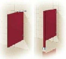 Urinal Screens and Privacy Screens - Solid Plastic