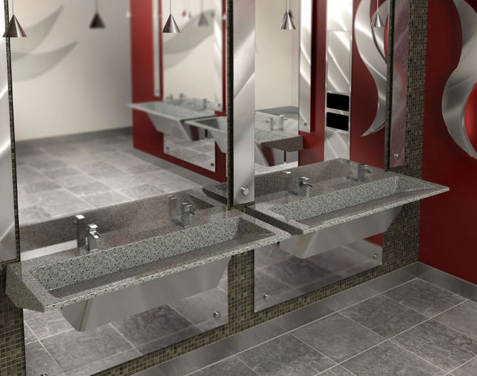 Commercial Lavatories Trough Sinks Bathroom Sinks