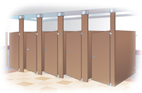 Bathroom Partitions Fort Worth plastic partitions for commercial restroom stall privacy walls.