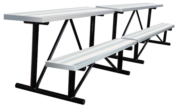 Aluminum Dugout Bench, Dugout Benches, Outdoor Baseball Fields Dugout Bench