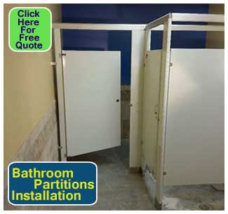 Installing restroom partitions for dynamic industries - Bathroom partition installers near me ...