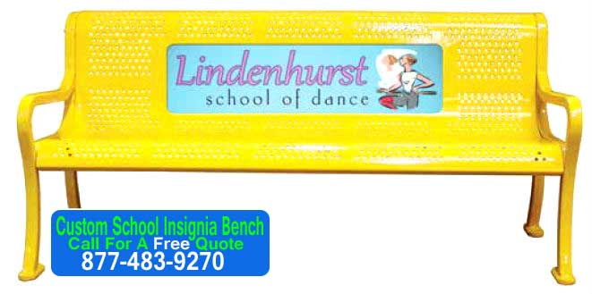 Custom-School-Insignia-Bench