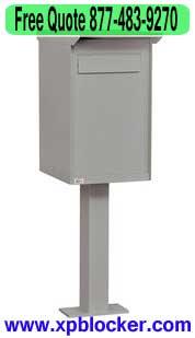 Pedestal-Drop-Box-Gray