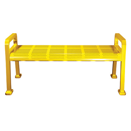 Perforated-Metal-Backless-Bench