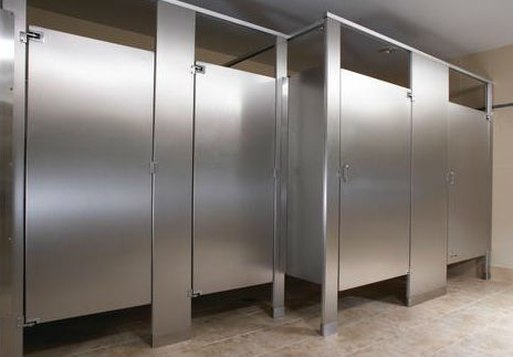 Commercial Bathroom Stainless Steel Privacy Stall Partition Walls - Commercial bathroom stall dividers