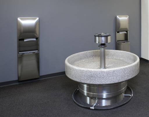 Terrazzo-Handwash-Fountain-Foot-Control