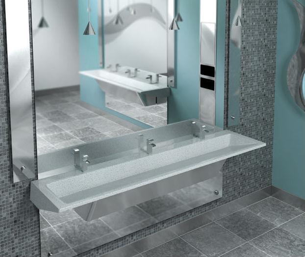 Verge Lavatories For Commercial Restroom Construction