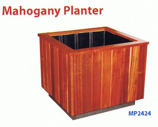 Mahogany Wood Planter