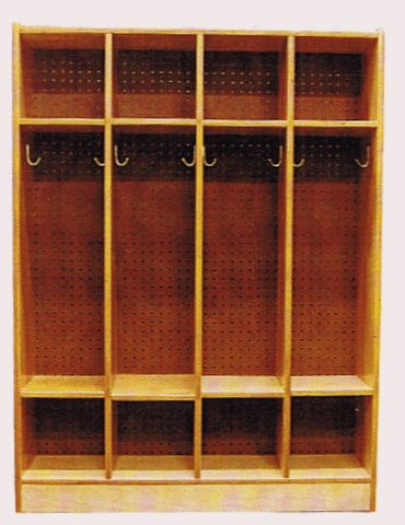 Solid Wood Open Access Sports Equipment Athletic Stadium Lockers