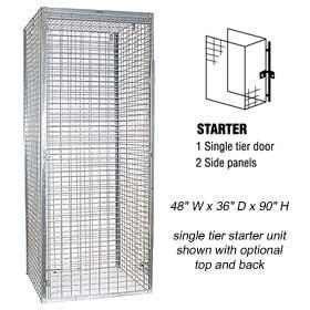 Wire Mesh Storage Lockers - Wide/1 Tier