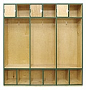 Open Access Wood Athletic Lockers