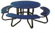 Plastic Coated Round Children's Picnic Table