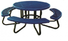 Plastic Coated Round Children's Picnic Table